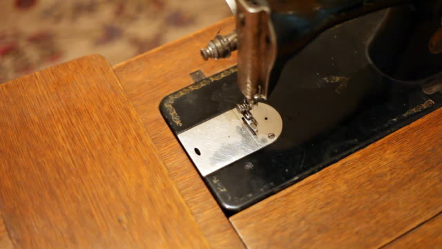 working sewing machine - knob stock videos and b-roll footage