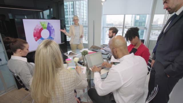 vidéos et rushes de travailler ensemble au bureau - tenue d'affaires formelle