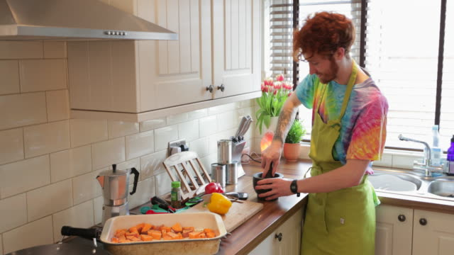 working together in the kitchen - redhead stock videos & royalty-free footage