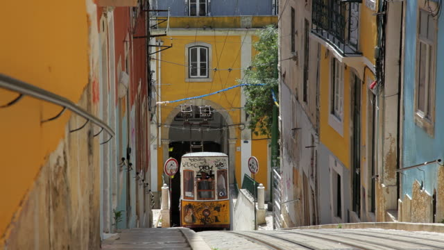 Working tramway system within the city of Lisbon, Portugal, Europe