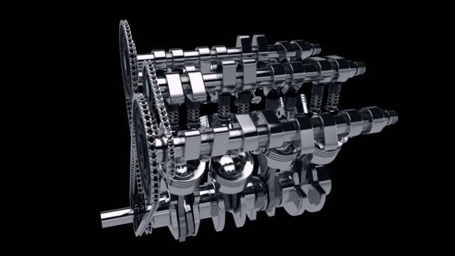 Working V8 Engine 3D Animation