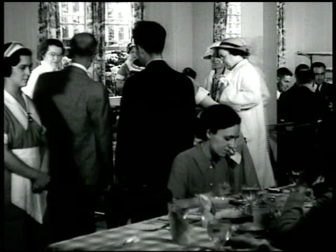 workmen eating at tables together two men smoking talking after int eastport restaurant reprising conversation int office men talking about project... - 1935 stock videos and b-roll footage