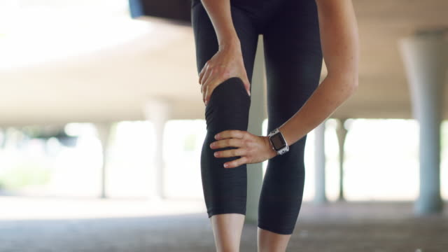 a workout injury can happen to anyone - physical injury stock videos & royalty-free footage