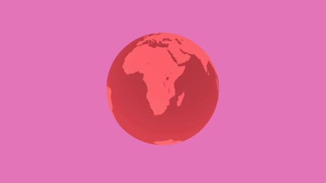 4 k 世界アニメーション - illustration点の映像素材/bロール