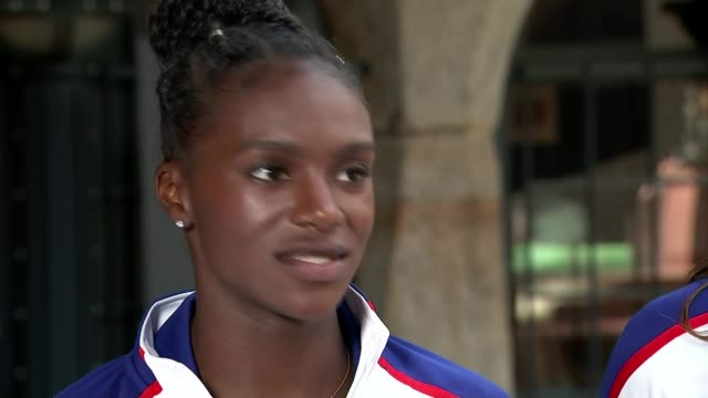 britain wins medals in final track events / recap of saturday nights events dina ashersmith interview sot - itv london tonight weekend stock videos & royalty-free footage