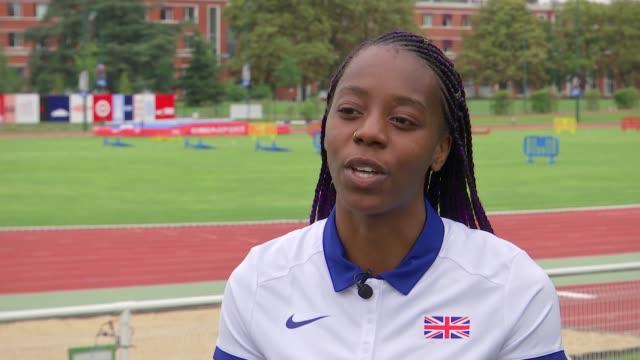 world athletics championships 2017: british team preparations; lorraine ugen interview sot / adam gemili interview sot - lorraine bildbanksvideor och videomaterial från bakom kulisserna