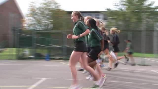 dina ashersmith silver medal / criticism of attendances england london orpington newstead wood school ext various of girls at the former school of... - medallist stock videos & royalty-free footage