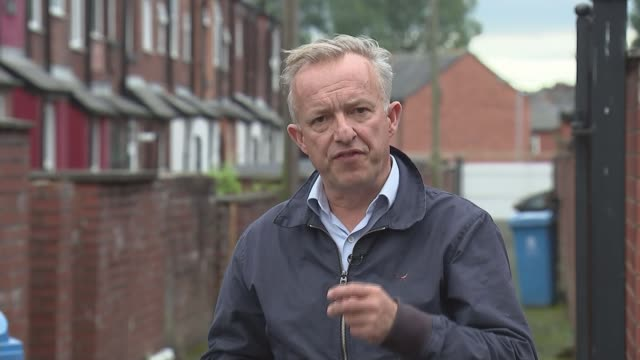 'a world away from westminster' shortage of housing in oldham england greater manchester oldham int various of reporter and lorraine phelt into... - cobblestone stock videos & royalty-free footage