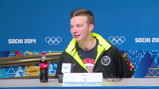 world champion david wise of the united states added olympic gold to his trophy collection with victory in the men's ski halfpipe competition on... - halfpipe stock-videos und b-roll-filmmaterial