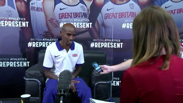 day 2 highlights / mo farah reflects on his 10000m victory int sir mo farah interview sot on hoping to win another gold medal - day 2 stock videos & royalty-free footage