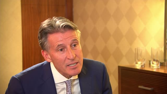 opening day buildup london int lord coe / seb coe interview sot/ stratford london stadium ext varios of crowds arriving at stadium ahead of opening... - championships stock videos & royalty-free footage