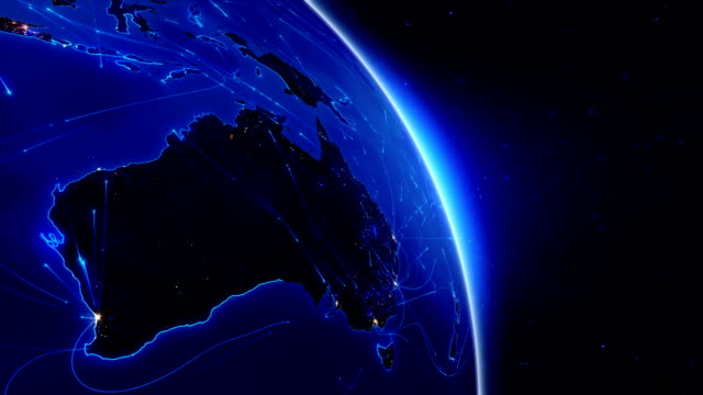 world connections. aerial, maritime, ground routes and country borders. australia. - map stock videos & royalty-free footage