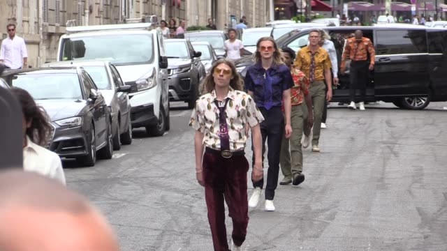 SSS World Corp fashion show in the middle of streets in Paris for the 2017 Menswear Paris fashion week with Justin O'Shea on June 24 2017 in Paris...