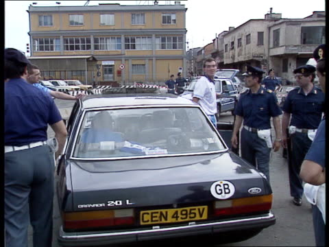 fans arrive in genoa 2207 italy genoa port of genoa officers standing at port officers being given briefing supporters along road police walking... - police chief stock videos and b-roll footage