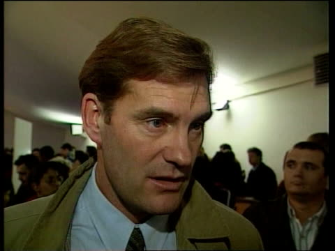 world cup 1998 draw; itn glenn hoddle intvwd - it is not a bad one / romania is very good craig brown intvwd - if you are going to play brazil it is... - romania点の映像素材/bロール