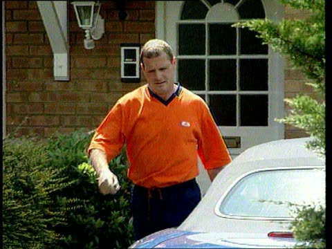 paul gascoigne left out of the england squad itn lib england herts paul gascoigne away from home of his estranged wife sheryl following his return... - sheryl gascoigne stock videos and b-roll footage