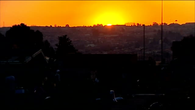 england beat platinum stars in warmup match soweto skyline at sunset - fifa world cup 2010 stock videos & royalty-free footage