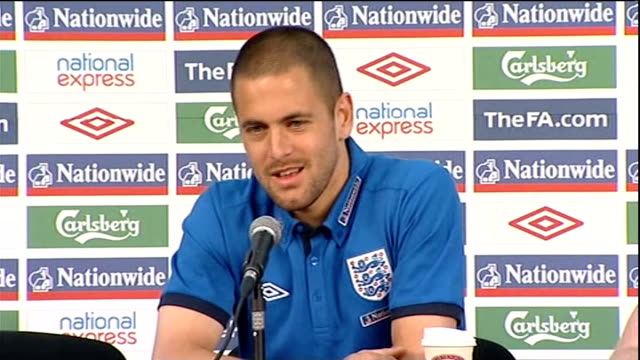 fabio capello argues with photographers; int joe cole press conference sot - it's part and parcel of being a footballer nowadays, i think a couple of... - fifa world cup 2010 stock videos & royalty-free footage