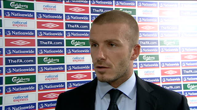 world cup 2010 qualifers: england v kazakhstan: post-match interviews; - on losing his starting place in the squad to theo walcott - i'm 33 now, i've... - fußballweltmeisterschaft 2010 stock-videos und b-roll-filmmaterial