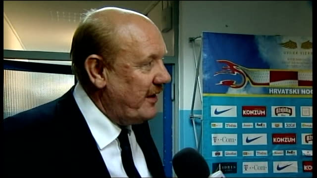 world cup 2010 qualifiers: croatia v england: post-match interviews; brian barwick interview sot - was very special night and very special... - fußballweltmeisterschaft 2010 stock-videos und b-roll-filmmaterial