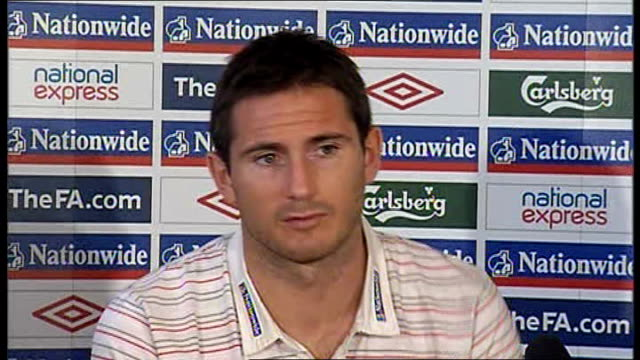 england frank lampard press conference lampard press conference sot will still have to play ukraine away which will be tough / england part of very... - slovakia stock videos & royalty-free footage