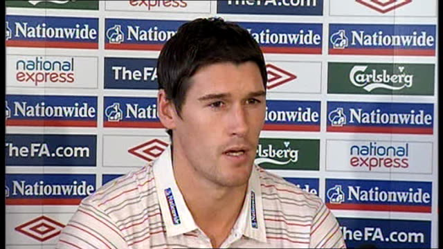 England Gareth Barry press conference Barry press conference SOT Strange to see three injuries from one match especially from the same position /...