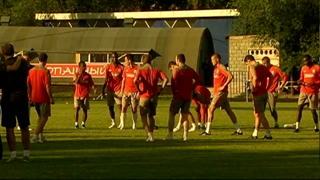 england squad training kazakhstan almaty ext england squad training including wayne rooney john terry frank lampard david beckham wide shot of... - fifa world cup 2010 stock videos & royalty-free footage