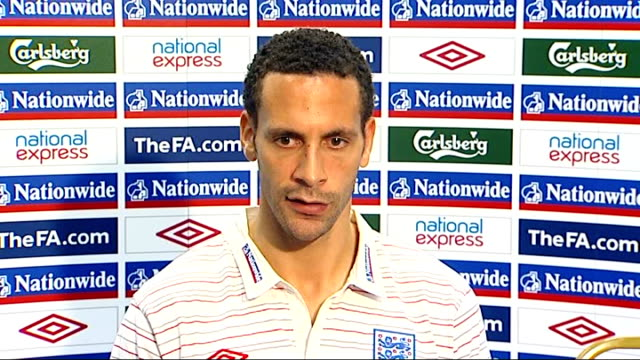rio ferdinand press conference ferdinand press conference sot talks about importance of wayne rooney especially with number of injuriies to forwards... - injured stock videos & royalty-free footage