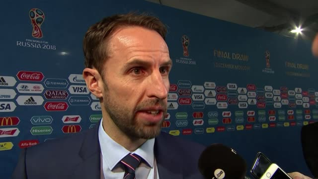 World Cup 2018 draw Gareth Southgate interview SOT