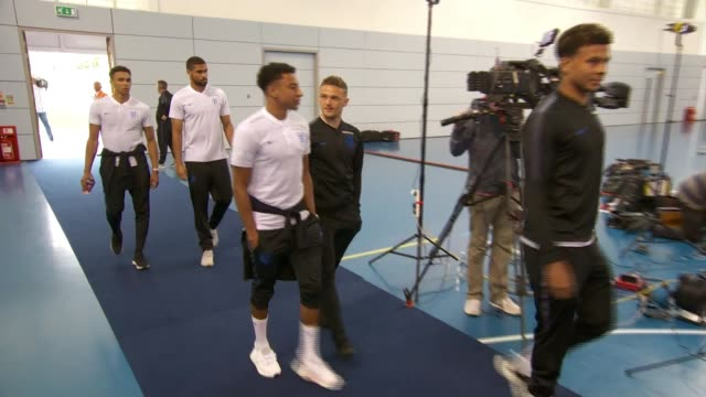 England squad prepared to face racist abuse in Russia ENGLAND Staffordshire Burton upon Trent St George's Park National Football Centre INT Jesse...
