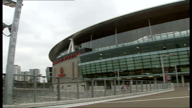 fifa president thinks england has potential london ext general view emirates stadium - fifa stock videos and b-roll footage