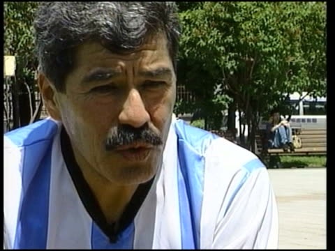 Day's matches ITN EXT Dr Jorge Brito sitting talking to Turton interviewed SOT Crisis in Argentina is so serious nothing can lift the Argentine...