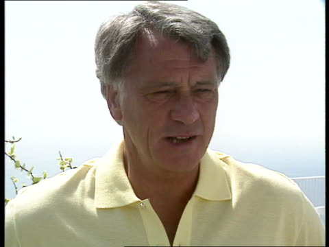 england world cup semi-final preps; team manager bobby robson on sun-deck talking to players; players sun-bathing; robson intvwd; austin i/c; player... - semifinal round stock videos & royalty-free footage