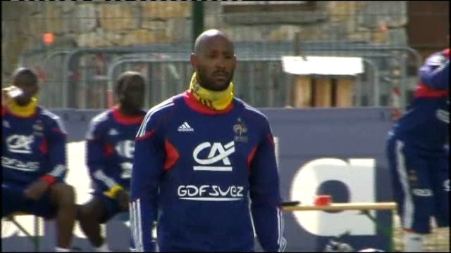 World Cup failure becomes national scandal Nicolas Anelka along during training session Domenech along