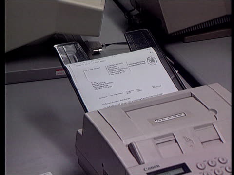 world cup host row itn itn fax coming thru machine freeze - fax machine stock videos & royalty-free footage
