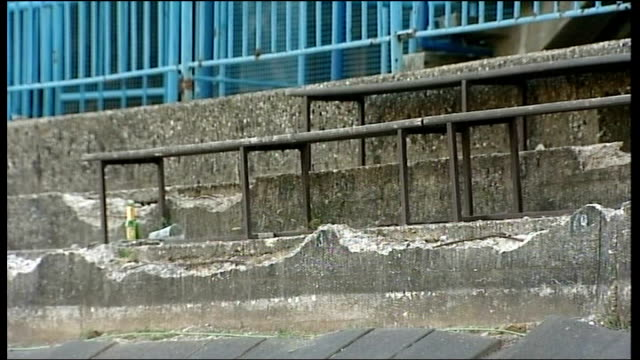 world cup qualifiers crumbling terraces in the maksimir stadium hosting the 2010 world cup qualifying match between croatia and england england... - zagreb stock videos & royalty-free footage