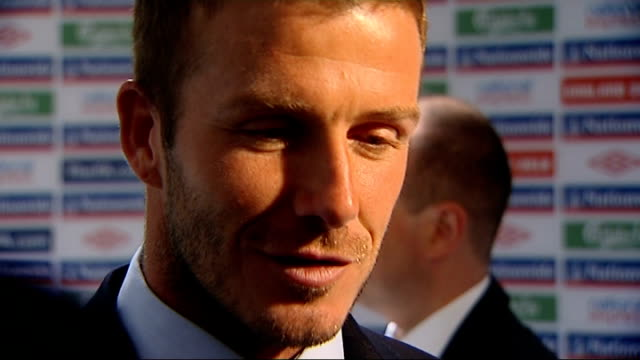 England v Croatia postmatch interviews David Beckham interview in tunnel SOT discusses victory over Croatia Steven Gerrard interview in tunnel SOT...