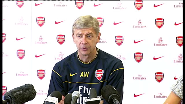reaction to theo walcott's hattrick against croatia int arsene wenger press conference sot what happened yesterday was an exception even players of... - international match stock videos & royalty-free footage