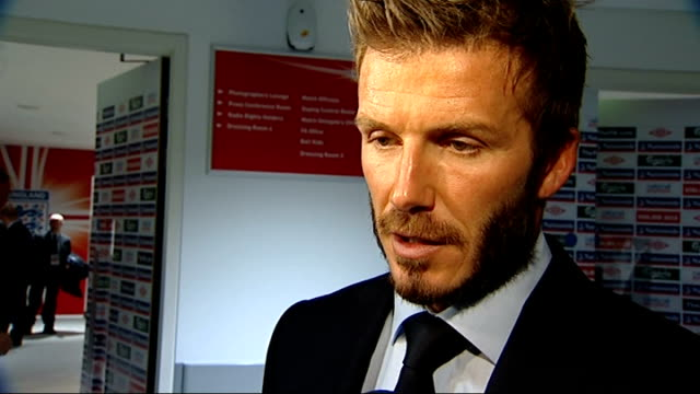 England v Belarus David Beckham interview ENGLAND London Wembley Stadium INT David Beckham interview SOT England have been exceptional through this...