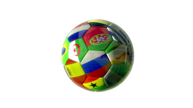 world cup soccer ball turn at stadium - loopable - fifa world cup stock videos & royalty-free footage