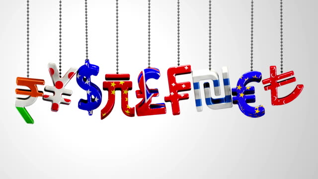 world currencies - currency symbol stock videos & royalty-free footage