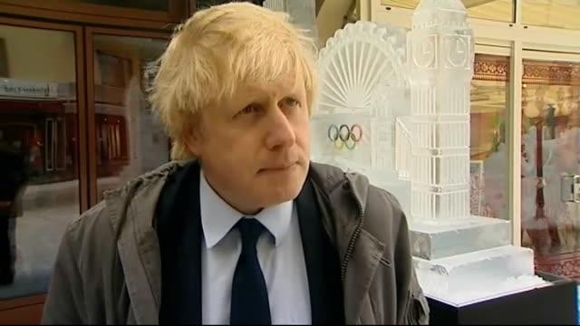 Boris Johnson interview SWITZERLAND Davis EXT Boris Johnson interview SOT this is London's year immense interest in Diamond Jubilee and Olympic...