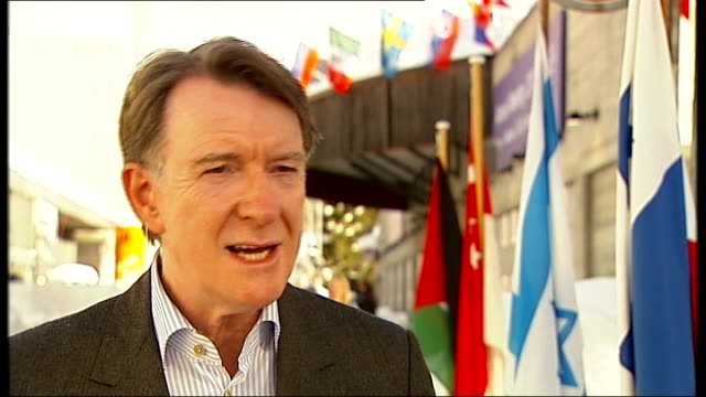 david cameron urges eu leaders to make bigger cuts lord mandelson interview sot the problem is as a result of his actions he [cameron] is listened to... - annual general meeting stock videos & royalty-free footage