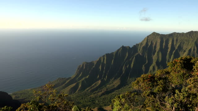 world famous kauai island mountain tops - butte rocky outcrop stock videos & royalty-free footage