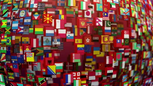 weltflaggen - flag stock-videos und b-roll-filmmaterial