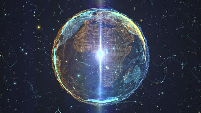 vídeos y material grabado en eventos de stock de mundo a partir de un torbellino de partículas - plexo