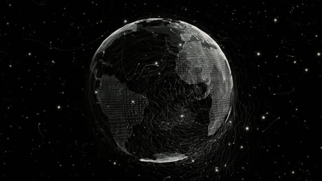 world from a particle vortex - wire mesh stock videos & royalty-free footage