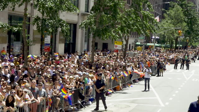 world gay pride nyc commemorating the 50th anniversary of the stonewall riots/uprising. . - parade stock videos & royalty-free footage