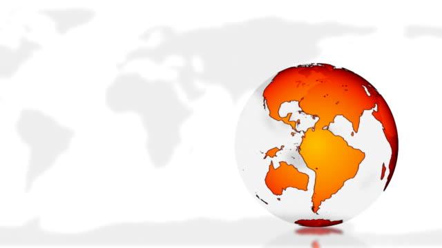 World globe and map