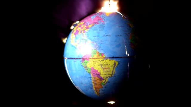 SLO MO LD World globe exploding